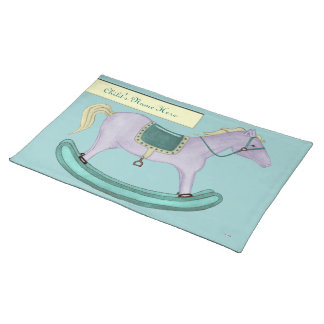 Rocking Horse - Traditional Toys (pastel) Placemat