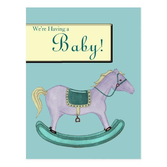 Rocking Horse - Traditional Toys (pastel) Postcard