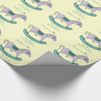 Rocking Horse - Traditional Toys (pastel) Gift Wrapping Paper