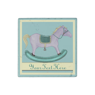 Rocking Horse - Traditional Toys (Pastels) Stone Magnet