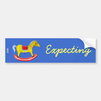 Rocking Horse - Traditional Toys (Primary Colours) Bumper Sticker