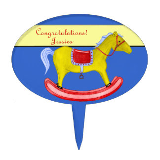 Rocking Horse - Traditional Toys (Primary Colours) Cake Topper