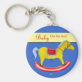Rocking Horse - Traditional Toys (Primary Colours) Keychain