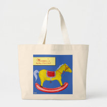 Rocking Horse - Traditional Toys (Primary Colours) Large Tote Bag