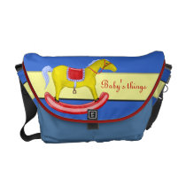 Rocking Horse - Traditional Toys (Primary Colours) Messenger Bag