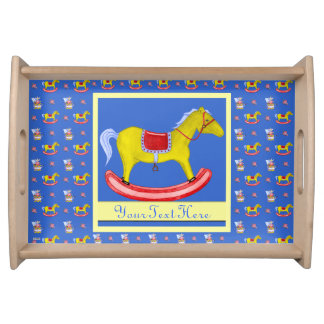 Rocking Horse - Traditional Toys Primary Colours Service Tray