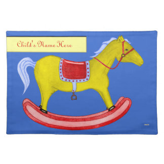 Rocking Horse - Traditional Toys (Primary Colours) Placemat