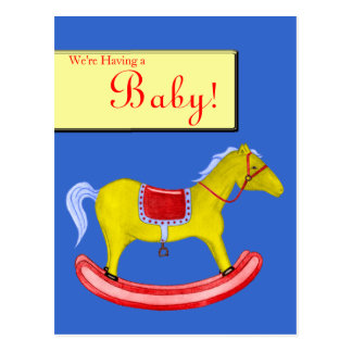 Rocking Horse - Traditional Toys (Primary Colours) Postcard