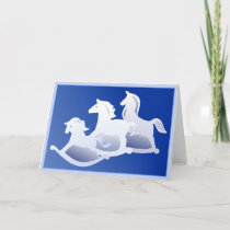 Rocking horse trio card