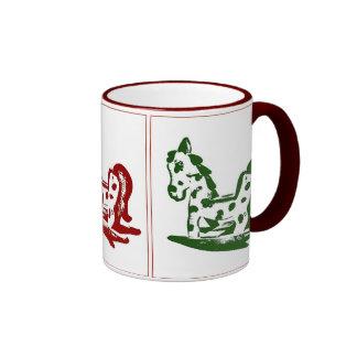 Rocking Horse Trio in color Ringer Coffee Mug
