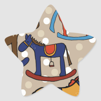 rocking horses star sticker