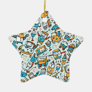 Rocking Little Robots Blue Ornament (Star)