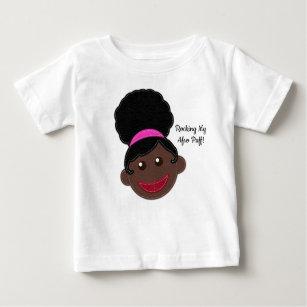Rocking My Afro Puff! Natural Kids Hair Baby T-Shirt