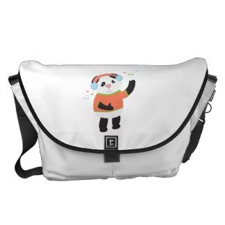 Rocking Panda Bear Large Messenger Bag