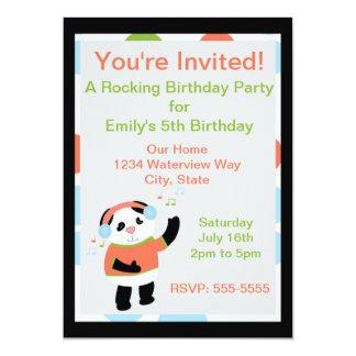 Rocking Panda Birthday Invitation