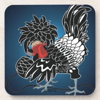 Rocking Polish Crested Chicken Drink Coaster