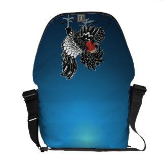 Rocking Polish Crested Chicken Messenger Bag