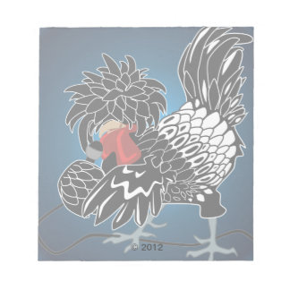 Rocking Polish Crested Chicken Notepad