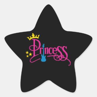 Rocking Princess Star Sticker