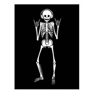 Rocking Skeleton Postcard