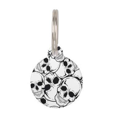 Halloween Themed Rocking Skull Pet Name Tag