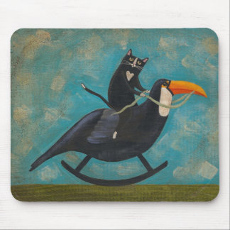 Rocking Toucan & Cat Mouse Pad