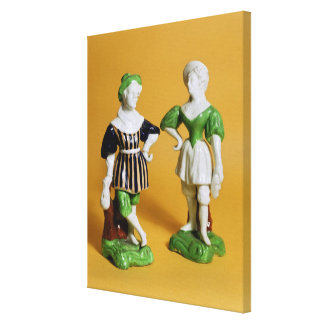 Rockingham figurines from the Commedia Canvas Print