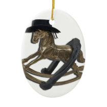 RockingHorseCowboyHatHorseShoe122312 copy.png Ceramic Ornament