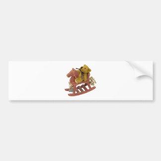 RockingHorseTeddy031910 Bumper Stickers