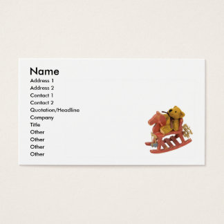 RockingHorseTeddy, Name, Address 1, Address 2, ... Business Card