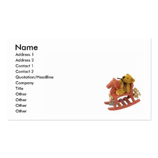 RockingHorseTeddy, Name, Address 1, Address 2, ... Double-Sided Standard Business Cards (Pack Of 100)