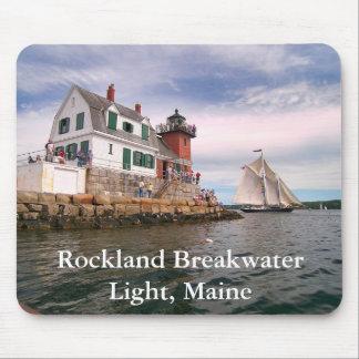 Rockland Breakwater Light, Maine Mousepad