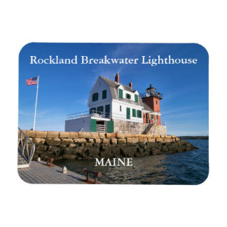 Rockland Breakwater Lighthouse, Maine Photo Magnet