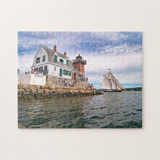 Rockland Breakwater Lighthouse Penobscot Bay Maine Jigsaw Puzzle