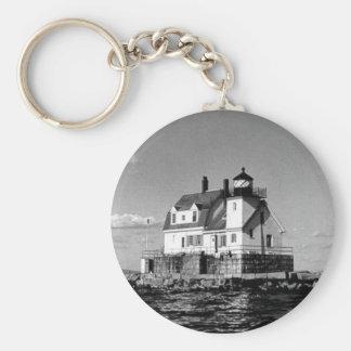 Rockland Harbor Breakwater Lighthouse Keychain