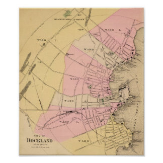 Rockland, Maine 1885 Poster