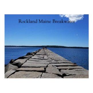 Rockland Maine Breakwater Postcard