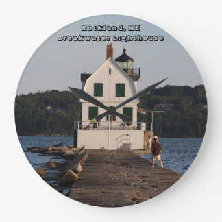 Rockland, ME Breakwater Lighthouse Large Clock