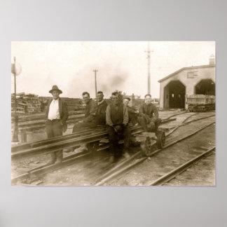 Rockland, poster de los trabajadores del ferrocarr