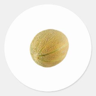 Rockmelon entero de Austrailian Pegatina Redonda