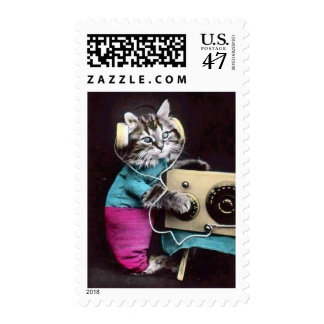 Rock'N Cool Cat Postage Stamps