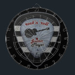 "rock&#39;n&#39; roll forever dart board<br><div class=""desc"">A graphic illustration of a rock guitar pick</div>"