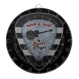 rock'n' roll forever dartboard with darts