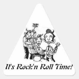 Rock'n roll time triangle sticker