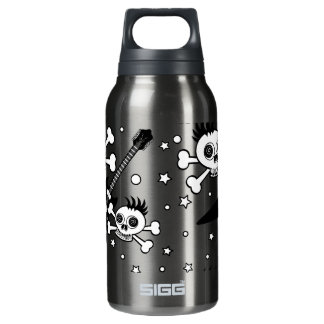 Rock'n Skulls with Guitars Insulated Water Bottle