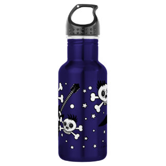 Rock'n Skulls with Guitars Stainless Steel Water Bottle