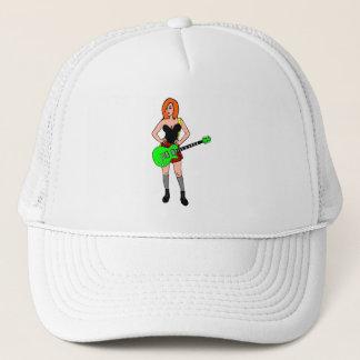 Rock'n'roll girl trucker hat