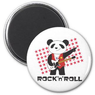 ROCK'n'ROLL PANDA 2 Inch Round Magnet