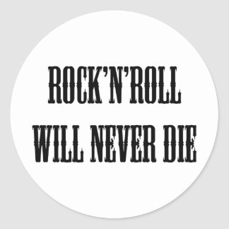 Rock'n'roll Products & Designs! Classic Round Sticker