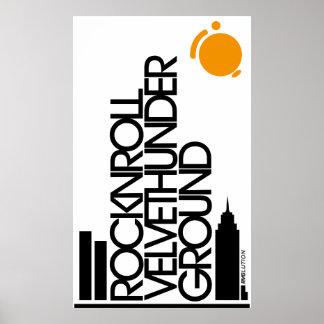 Rocknroll Velvethunder Ground RVG Print